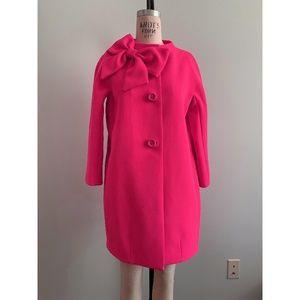 Kate Spade Neon Orange Dorothy Coat